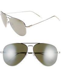 Electric - 'av1 Xl' 62mm Aviator Sunglasses - Platinum/ Grey/ Silver Chrome - Lyst