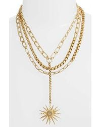 Vince Camuto - Layered Chain Statement Necklace - Lyst