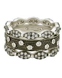 Freida Rothman | Instrial Finish Set Of 3 Stackable Rings | Lyst