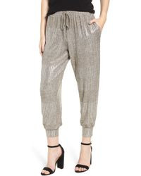BISHOP AND YOUNG - Bishop + Young Metallic Jogger Pants - Lyst