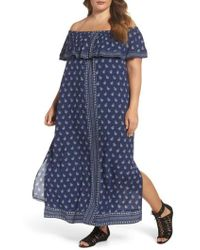 Two By Vince Camuto - Paisley Off The Shoulder Maxi Dress - Lyst