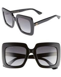 Gucci - 53mm Square Sunglasses - - Lyst