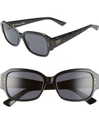 42b731aabe17d Dior Oversized Rounded Sunglasses Black Havana in Black - Lyst
