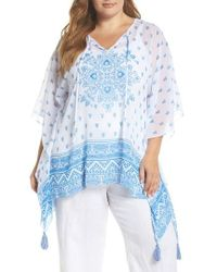 Vince Camuto - Persian Medallion Tassel Poncho - Lyst
