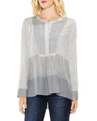 Vince Camuto - Two By Quiet Tile Border Bib Henley - Lyst