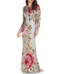 a94501ad Marchesa notte. Plunging-illusion 3d Flower Trumpet Gown. $1,095 $821 (25%  off). Bergdorf Goodman. Mac Duggal - Drape Back Floral Sequin Gown - Lyst