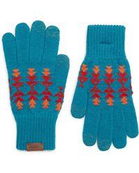 Pendleton - Jacuqard Texting Gloves - Lyst