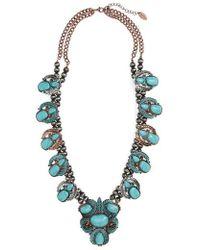 Natasha Couture - Leaf Stone Necklace - Lyst