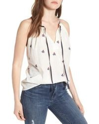 Lucky Brand - Americana Embroidered Tank - Lyst