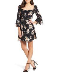 Somedays Lovin - Hypnotic Blooms Empire Waist Mini Dress - Lyst