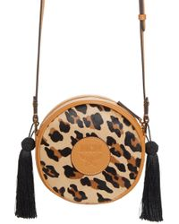 9e8b22901b4e MCM - Small Leopard Tambourine Calf Hair Crossbody Bag - Lyst