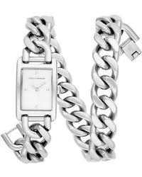 Rebecca Minkoff - Moment Chain Wrap Bracelet Watch - Lyst