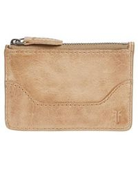 Frye - Melissa Leather Card Holder With Key Ring - Lyst