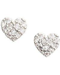 Estella Bartlett - Shine Bright Heart Stud Earrings - Lyst