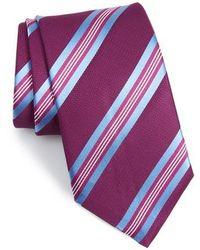 David Donahue - Striped Silk Tie - Lyst