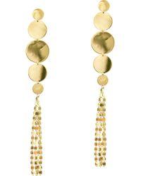 Lana Jewelry - Disc Nude Long Drop Earrings - Lyst