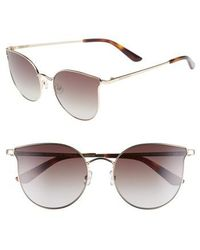 Juicy Couture - 56mm Metal Cat Eye Sunglasses - Light Gold - Lyst
