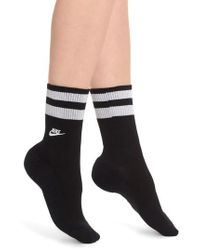 Nike - Stripe Top Crew Socks - Lyst
