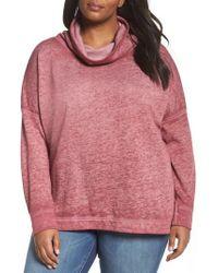 Caslon - Caslon Pleat Back Sweatshirt - Lyst