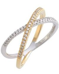 Bony Levy - Stackable Crossover Diamond Ring (nordstrom Exclusive) - Lyst
