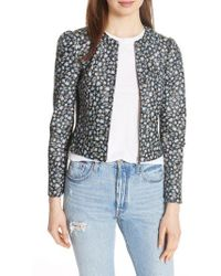 Rebecca Taylor - Zelma Floral Leather Jacket - Lyst