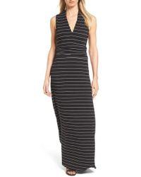 Vince Camuto - Stripe Maxi Dress - Lyst