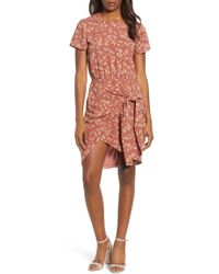 1.STATE - Heritage Bouquet Tie Front Dress - Lyst