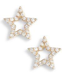 EF Collection - Open Star Diamond Stud Earrings - Lyst