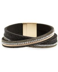 Panacea - Faux Leather Magnetic Bracelet - Lyst