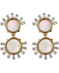 Asha - Tallulah Mother-of-pearl Drop Earrings - Lyst