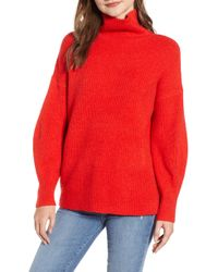 French Connection - Urban Flossy Cowl Neck Sweater - Lyst