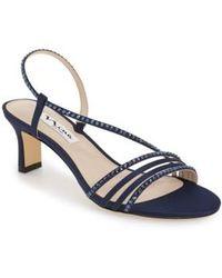 Nina - 'Gerri' Embellished Slingback Sandal - Lyst