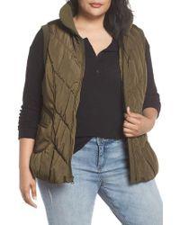 Gallery - Packable Pillow Collar Vest, Green - Lyst