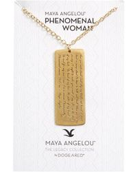 Dogeared | Legacy Collection - Phenomenal Women Large Tag Necklace | Lyst