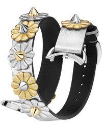 Fendi - Selleria 17mm Embellished Leather Watch Strap - Lyst