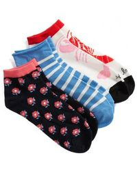 Kate Spade - 3-pack Lobster Love No-show Socks, White - Lyst