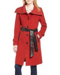 Mackage - Flat Wool Knit Collar Coat - Lyst