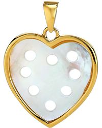 Asha - Small Mother-of-pearl Heart Charm - Lyst
