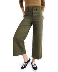 Madewell - Emmett Crop Wide Leg Pants - Lyst