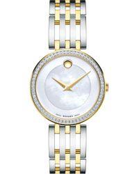 Movado - 'esperanza' Diamond Bezel Bracelet Watch - Lyst
