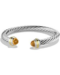 David Yurman - Cable Classics 7mm Bracelet With 14k Gold - Lyst