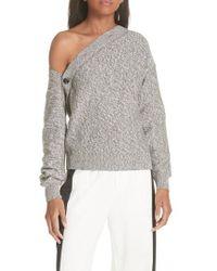 MM6 by Maison Martin Margiela - Asymmetrical Button Sweater - Lyst