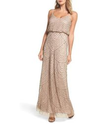Adrianna Papell - Embellished Blouson Gown - Lyst