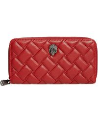 Kurt Geiger - Red Leather Wallet With Fastener - Lyst
