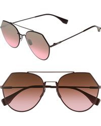 3c8c229ab3d Fendi - Eyeline 55mm Sunglasses - Plum - Lyst