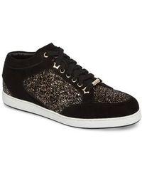 Jimmy Choo - Miami Mid Top Glitter Sneaker - Lyst