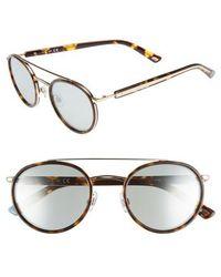 Web - 52mm Aviator Sunglasses - Colored Havana/ Blue Mirror - Lyst