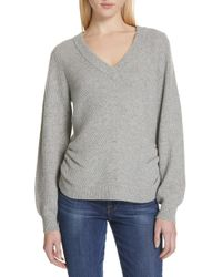 Cashmere Frame Ruched amp; Wool Lyst Sweater HSrtAnSwq
