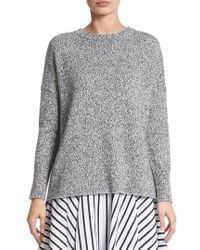 Adam Lippes - Marled Cotton, Cashmere & Silk Sweater - Lyst