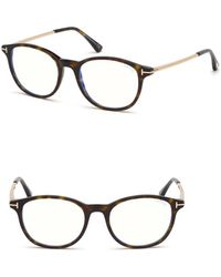 15347e60cb98 Tom Ford - 50mm Blue Light Blocking Glasses - Shiny Dark Havana  Blue Block  -